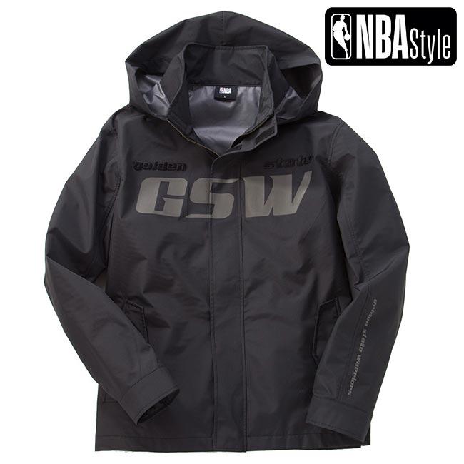 【NBA Style】 Golden State Warriors ウォータープルーフ ジップアップ ジャケット ユニセックス / ゴールデンステート・ウォリアーズ