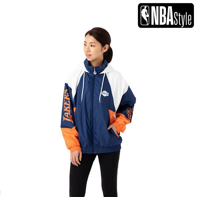 【NBA Style】 Los Angeles Lakers フーデッド ジップアップ ジャンパー ユニセックス / ロサンゼルス・レイカーズ