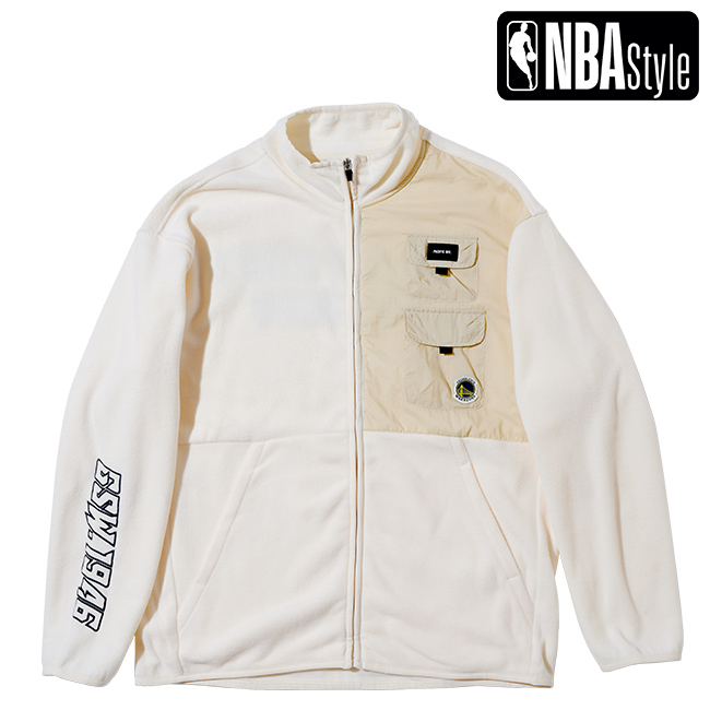 予約販売 NBA Style 激安 激安特価 送料無料 AW Golden Warriors State ウーブンフリースジャケット 国内正規品