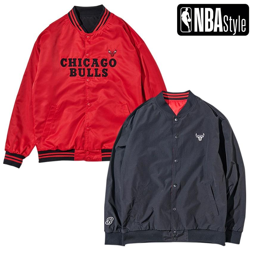 限定 NBA公式ライフスタイルアパレル NBA Style 2021 SS ブルズ 税込 Chicago シカゴ チームジャケット リバーシブル 予約販売 Bulls