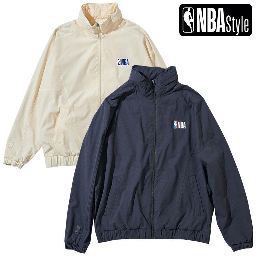 限定 本店 NBA公式ライフスタイルアパレル NBA Style 2021 SS お買得 NBAロゴ Collection アイボリー PLAY ブラック サマージャケット ジップアップ