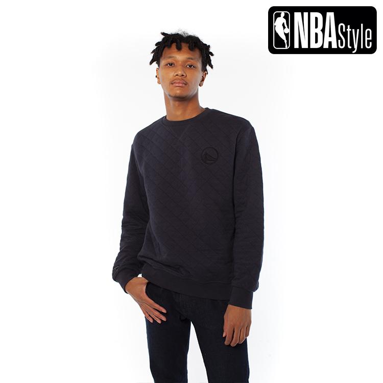 【NBA Style 2020 A/W】Golden State Warriors キルティング クルーネック スウェット / ゴールデンステート・ウォリアーズ