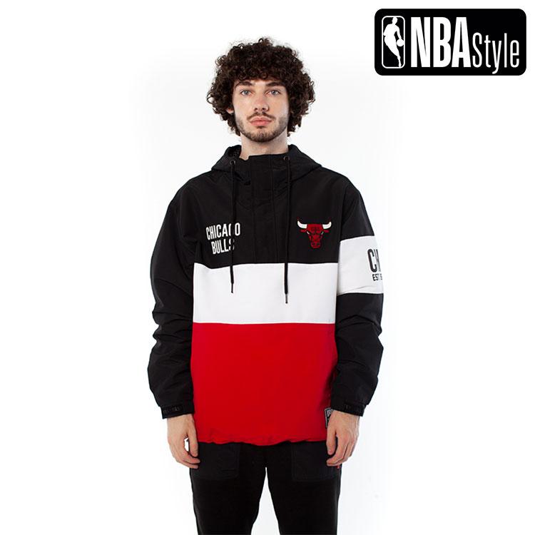 【NBA Style 2020 A/W】Chicago Bulls Color Blocked アノラックフーディー / シカゴ・ブルズ