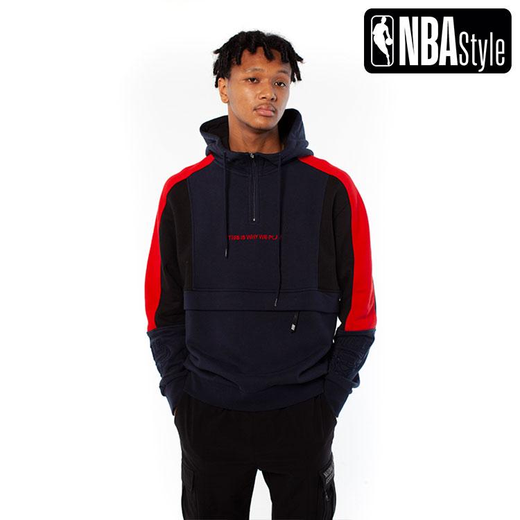 2020 シカゴ・ブルズ Bulls / ジップアップ A/W】Chicago Color 【NBA アノラックフーディー(パーカー) Blocked Style