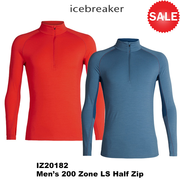 icebreaker(アイスブレーカー) M 200 Zone LS Half Zip (200ゾーン LS ハーフ ジップ) 2018秋冬モデル