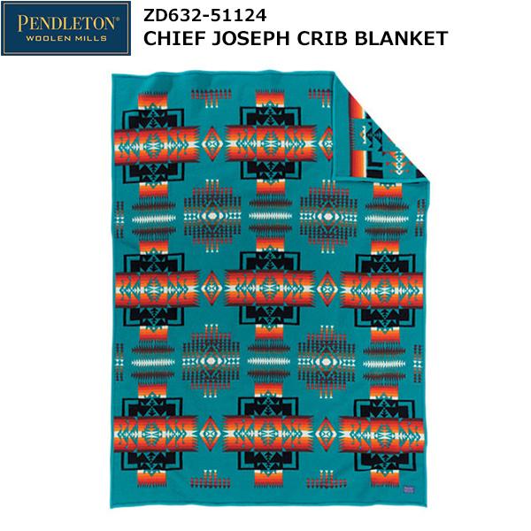 PENDLETON(ペンドルトン) Chief Joseph Crib Blanket ZD632-51124 (ターコイズ)