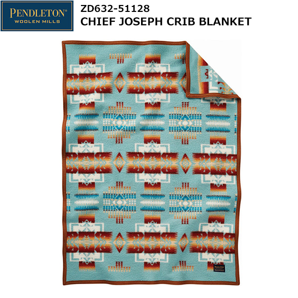 PENDLETON(ペンドルトン) Chief Joseph Crib Blanket ZD632-51128 (アクア)