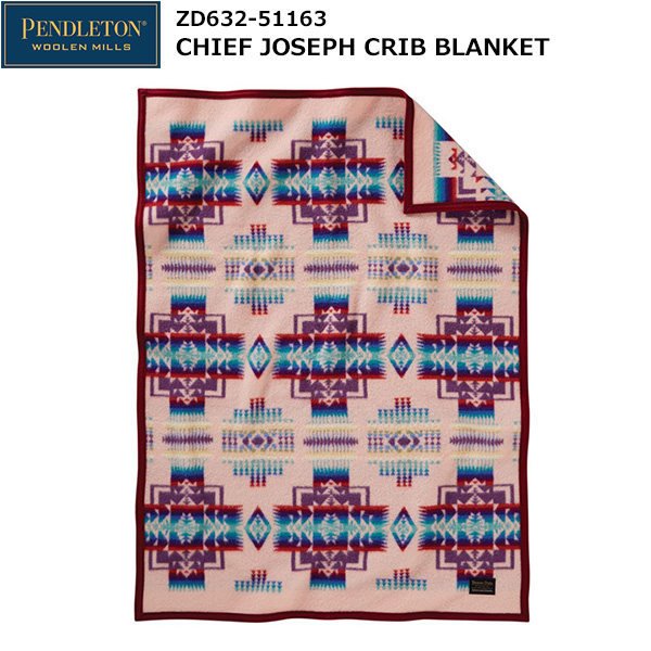 PENDLETON(ペンドルトン) Chief Joseph Crib Blanket ZD632-51163 (ピンク)