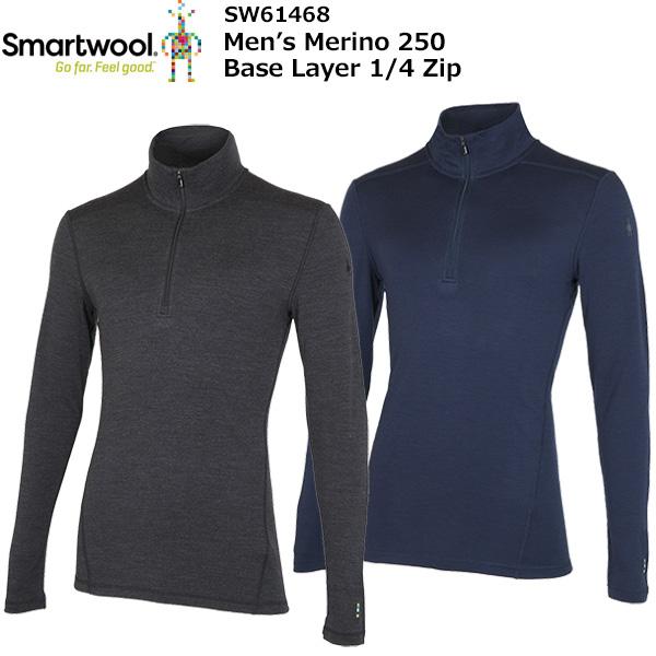 smartwool スマートウール M's 驚きの値段 お歳暮 SW61468 4ジップ メリノ250ベースレイヤー1