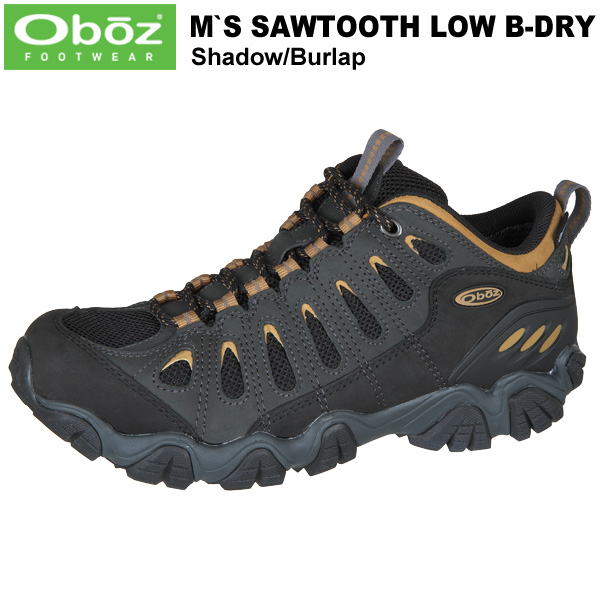 Oboz(オボズ) Men's Sawtooth Low B-DRY (ソートゥースローB-DRY) Shadow/Burlap