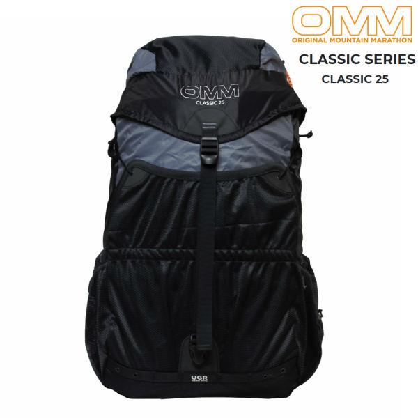 【セール】 OMMクラシック25グレー/ブラックトレイルランニング ザック バックパック ファストパッキング 25L 登山 レース
