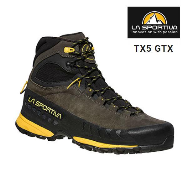 スポルティバ TX5 GTX トラバースX5 GTX メンズ カーボン×イエロー 登山 登山靴 トレッキング アプローチ