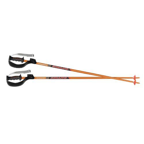 シナノ ジュニアモデルSL-16ボーグ付 スキーポールオレンジ
