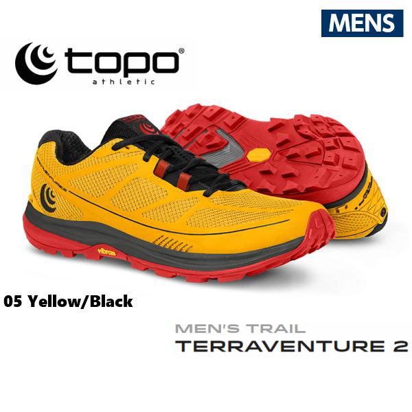 TOPOathletic(トポアスレチック) テラベンチャー2 メンズ イエロー/ブラック トレイルランニング トレラン シューズ TOPO