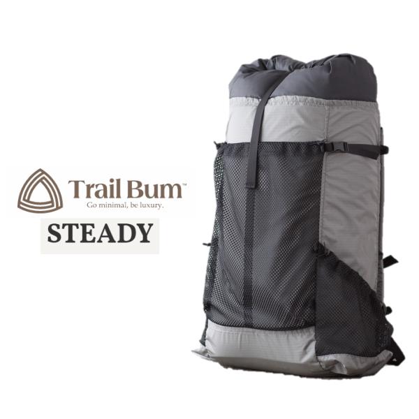 トレイルバム STEADY (スタディー) グレー バックパック 登山 ハイキング