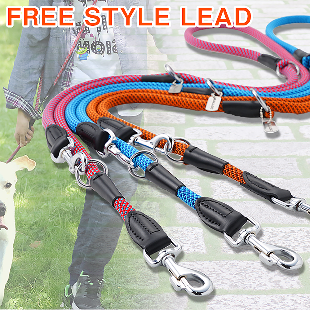 The lead [shoulder lead shawl lead double reed for the dog] for the big dog  out of dog Lee gong lock RALLOC free-style-maru lead L (possible gift