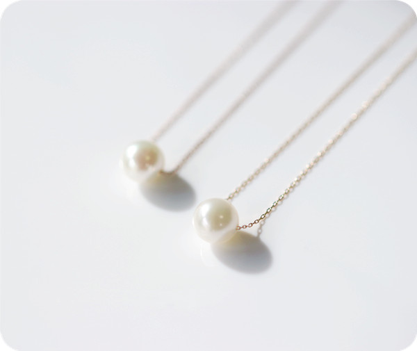 K18金 一粒AKOYAあこや真珠のネックレス 6月誕生石 RALULU.SHU