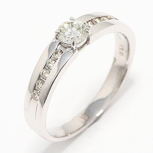 ファッション・ジュエリー・アクセサリー・レディース・指輪・リング・プラチナ・ダイヤモンド・K18WG・4月・誕生石・K18WGダイヤモンドリング0.36ct