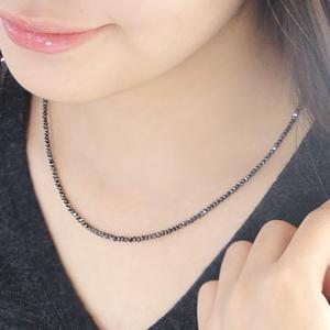 K18WG ブラックダイヤモンドネックレス20ctアップ AAA  安心ダブルワイヤー使用 レディース&メンズ ジュエリー ギフト 誕生石 プレゼント