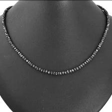 【K18WG】ブラックダイヤモンドネックレス30ctアップ【Aクラス】ブラックダイヤ