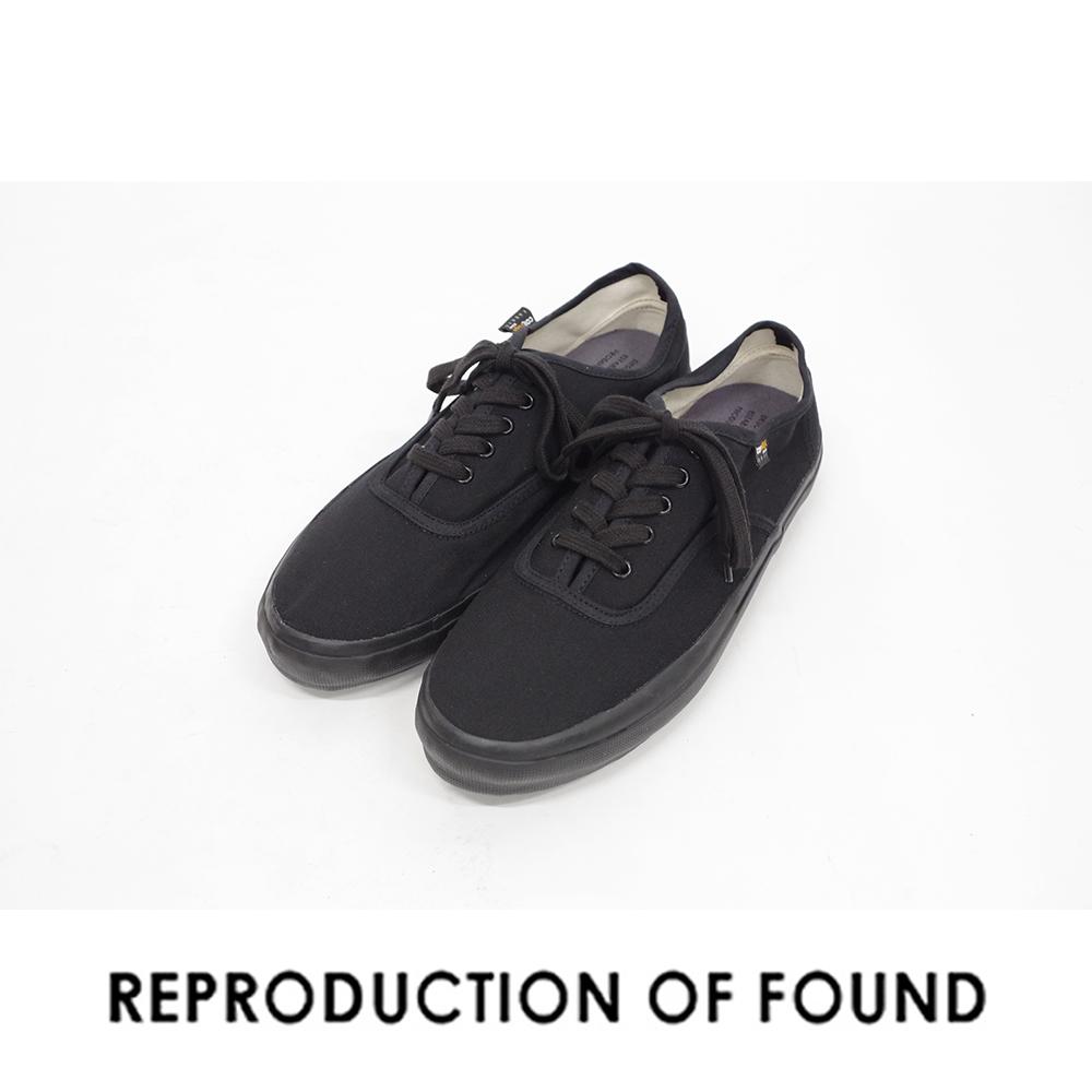 【REPRODUCTION OF FOUND リプロダクション オブ ファウンド】US NAVY MILITARY TRAINER ミリタリートレーナー 5851C スニーカー black ブラック 黒