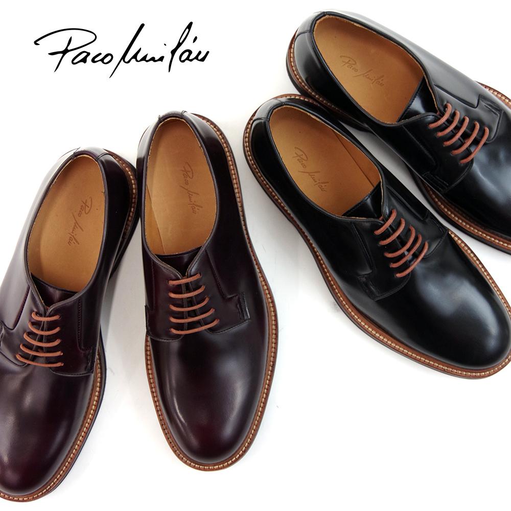送料無料 正規品 完売 本革 PACO MILAN パコミラン プレーントゥシューズ 5129 マッケイ製法 カジュアル レースアップシューズ メンズシューズ セール スペイン製 紳士靴フォーマル 革靴 ドレスシューズ