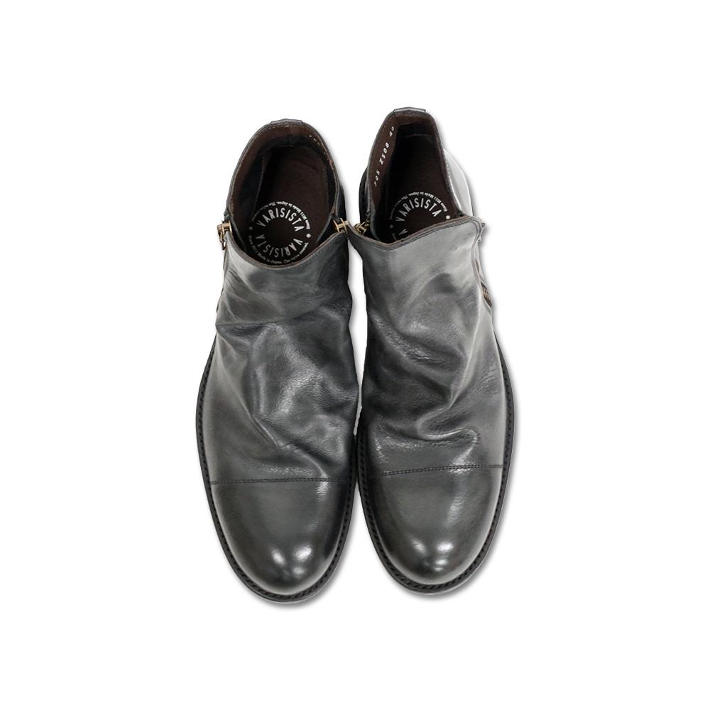ダークブラウン メンズシューズ 紳士靴 革靴 ポイント10倍 ビブラムソール /(Z508-LX/) Vibram sole ダブルジップドレープ 【VARISISTA ヴァリジスタ 】 日本製 サイドジップブーツ 【02P05Nov16】 DARK BROWN ブーツ