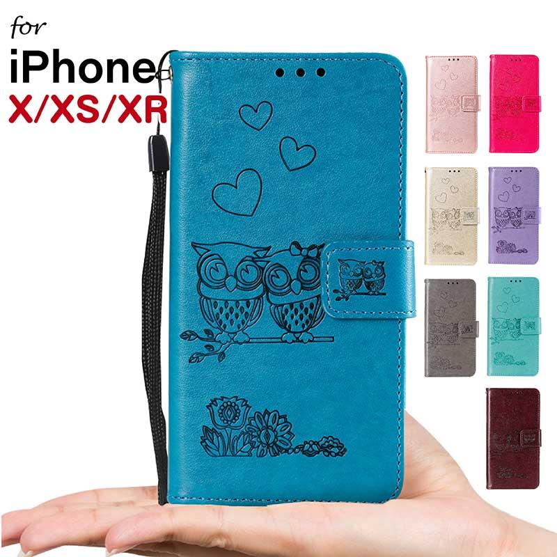シンプルなデザインですが高級感があり飽きのこないおすすめのケース。プレゼント ギフト メンズ レディース 大人 iPhone XR ケース 手帳型 iPhoneX ケース iphone xs カバー アイフォン xs 手帳型ケース かわいい アイホン xs 保護ケース iphone xs 手帳ケース 軽量 フクロウ 耐衝撃 花柄 人気 薄型 花 お洒落 可愛い マグネット ストラップ付き - rioinaweek.com