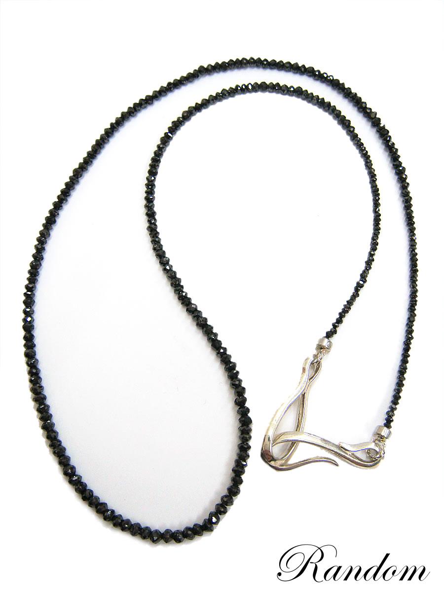 SV925ブラックダイヤモンドネックレス(ORDER MADE)【送料無料】