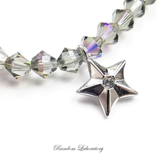 Bracelet beads Swarovski star charm SWAROVSKI ladies men's star summer 2015  silver Swarovski bracelet simple slender Accessories super-Luxe stylish