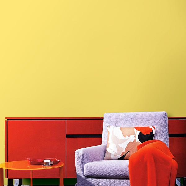 壁紙 シール クロス シール はがせる 貼るだけ 賃貸 北欧 社宅/プレミアムウォールデコシート 【30m巻】 C-WA204 カラー 黄色イエロー【代引不可】