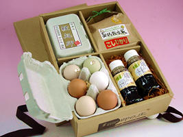 美味しい自家栽培米に美味しい卵でやっぱり卵かけご飯 海外 自然の恵み 専用醤油付き 有機肥料で栽培した自家製米と特撰卵の卵ご飯セット 供え