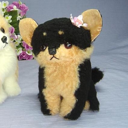 Ranran Black Chihuahua And Plush Chihuahua Dog Tan No