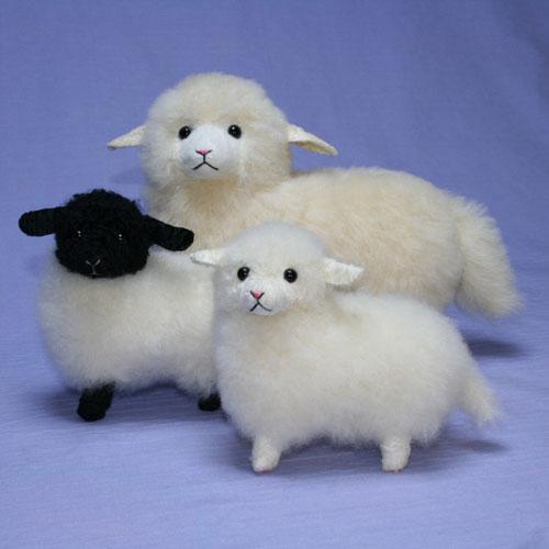 迷える小羊 ぬいぐるみ ハンドメード 56年の実績 オリジナル ギフト プレゼント 毛皮 ラム 清水拓司