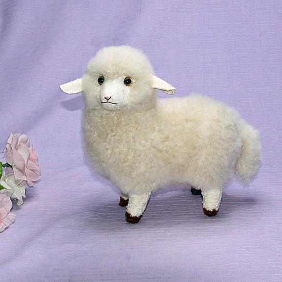 羊 ひつじ ぬいぐるみ オリジナル ギフト 毛皮 清水拓司作 クリスマスギフト プレゼント品