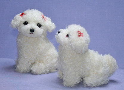 Original handmade lamb including the sewing made by results fur Craft of  Maltese dog stability type 56