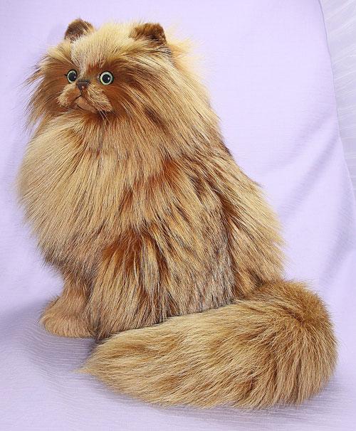 完全オリジナル ハンドメイド ギフト ペルシャネコ 猫 日本製 作家 特選品 ぬいぐるみネコ プレゼント 毛皮 フォックス インテリア クリスマスギフト
