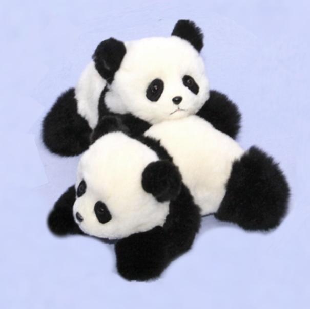這い型パンダ 作家手作り品 パンダ ぬいぐるみ犬 ネコ クマ うさぎ ギフト プレゼント リアル毛皮 ハンドメイド 上野動物園