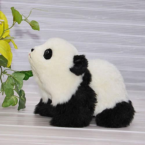 四つ立ちパンダ ぬいぐるみ パンダ 上野パンダ オリジナル ハンドメード くま ギフト 毛皮 清水拓司 クリスマスギフト