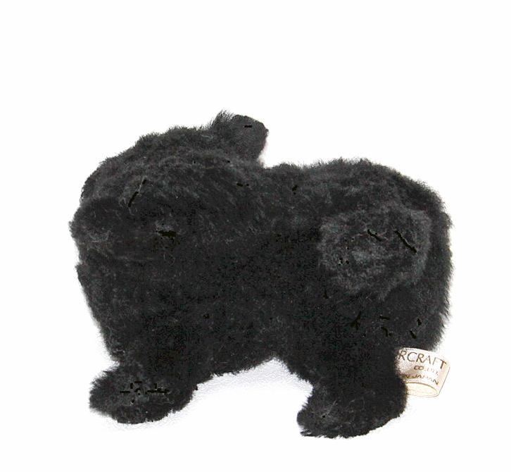 Ranran Pomeranian Dog Plush ブラックポメラニアン Lamb Fur
