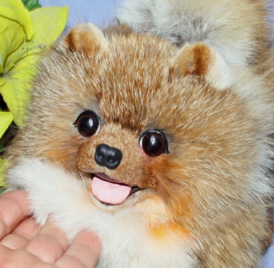 ポメラニアン ぬいぐるみ 特選品ポメラニアン ファークラフト社製 ぬいぐるみ クリスマスギフト イヌ 毛皮 フォックス