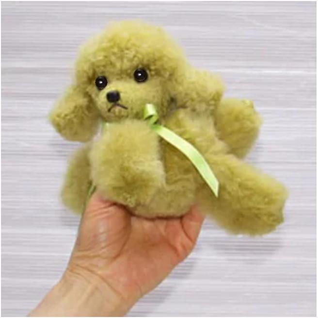 プードル ぬいぐるみ だきプードル ファークラフト社製ぬいぐるみ 毛皮ラム クリスマスギフト プレゼント品 イヌ