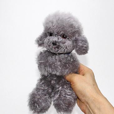 Poodle plush poodle dog and Teacup Poodle / (black)-dakimakura