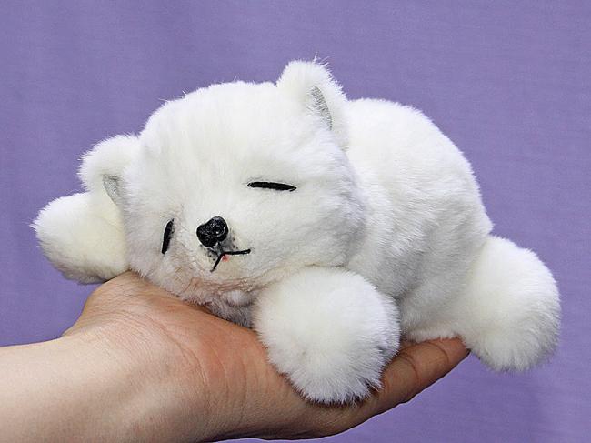 白くま ネムリ目 ファークラフト社製 ぬいぐるみ オリジナル ハンドメイド クマ 毛皮