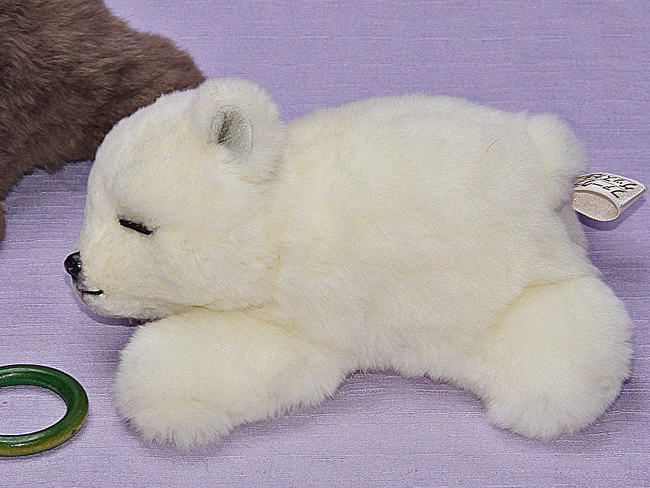 Ranran Polar Bear Neely Eyes And Real Stuffed Polar Bear Stuffed