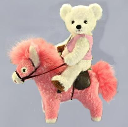 ハンドメイド オリジナル品 逸品もの 手作り クマ 馬 毛皮 ギフト テディベア クリスマスギフト