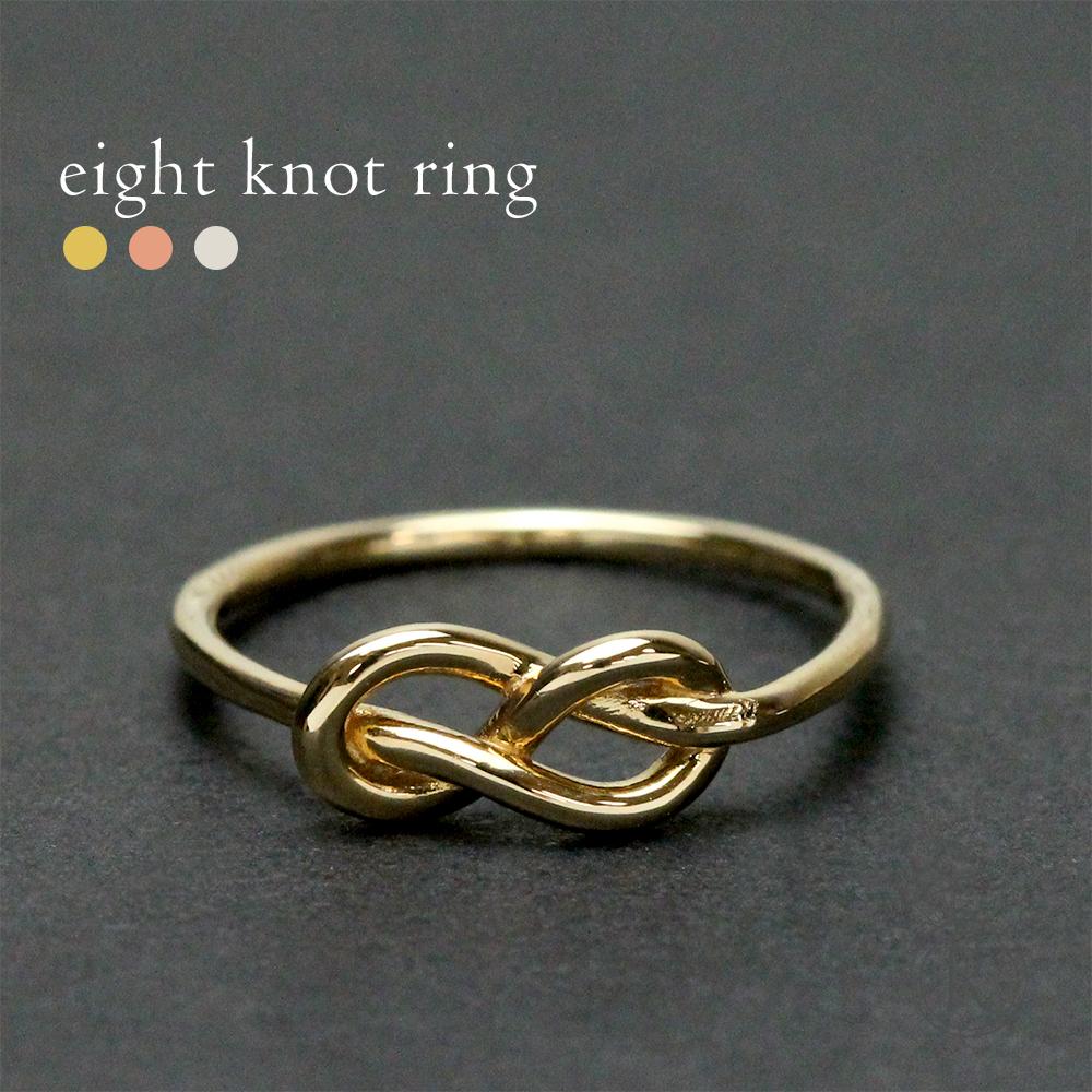 K18 エイトノット リング 一本の金線で結ばれた紐リング 送料無料 K18 リング 地金 指輪 ring 18k 18金 ゴールド スキンジュエリー ラパポート 代引不可