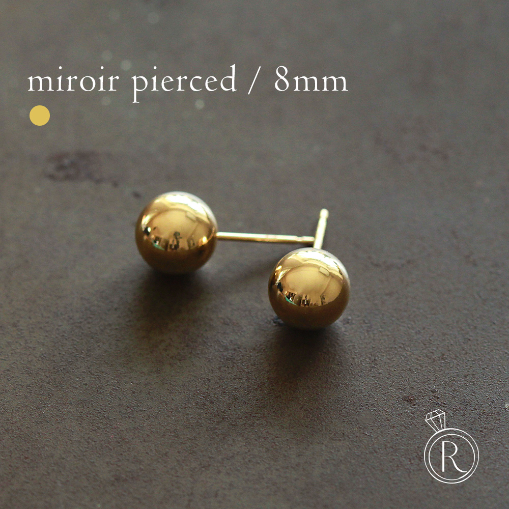 Pierce K18 Ball Pierced Earrings 18k