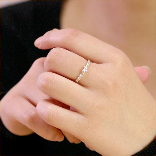 K18 ハートモチーフ ダイヤモンド リング 0.5ct 眩いキラキラハートが心を奪う!   ダイヤ リング ダイアモンド 指輪 ring 18k 18金 ゴールド 代引不可 ラパポート