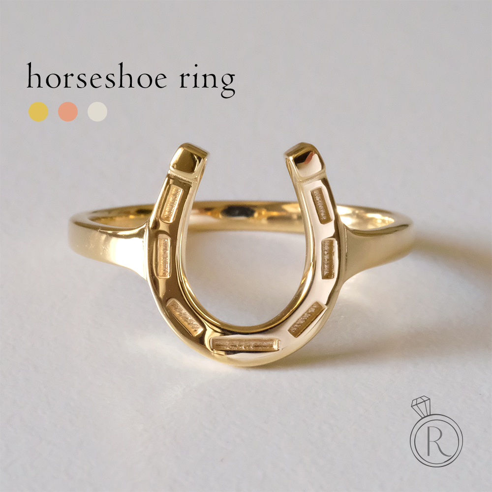 K18 ホースシュー リング 馬蹄 蹄 地金 指輪 ring 18k 18金 ゴールド スキンジュエリー 送料無料 プラチナ可 ラパポート 代引不可